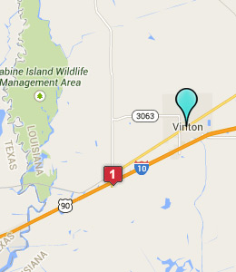 Map of Vinton, LA hotels