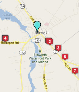 Map of Ellsworth, IN hotels