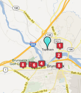 Map of Topsham, IN hotels
