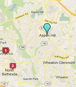 Map of Aspen Hill, IN hotels