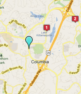 Map of Columbia, IN hotels