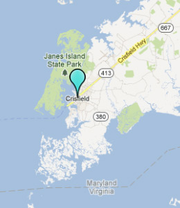 Map of Crisfield, IN hotels