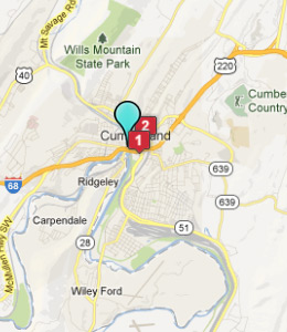 Map of Cumberland, IN hotels