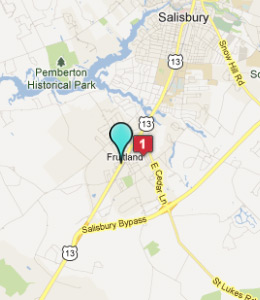 City Of Fruitland Md Map
