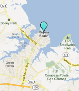 Map of Riviera Beach, IN hotels