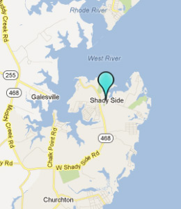 Map of Shady Side, IN hotels