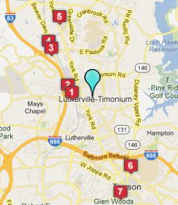 Timonium Maryland Map
