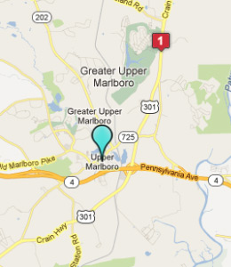 Map of Upper Marlboro, IN hotels
