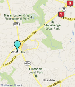 Map of White Oak, IN hotels