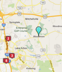 Map of Woodmore, IN hotels