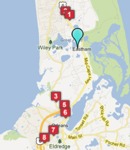 Map of Eastham, IN hotels