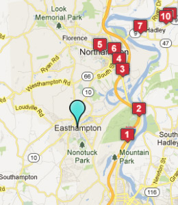 Map of Easthampton, IN hotels