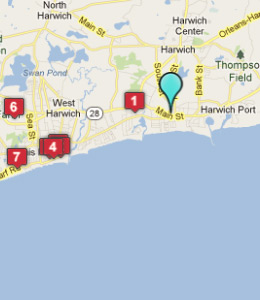 Map of Harwich Port, IN hotels