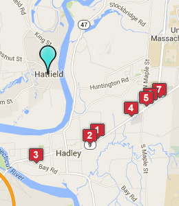 Map of Hatfield, IN hotels