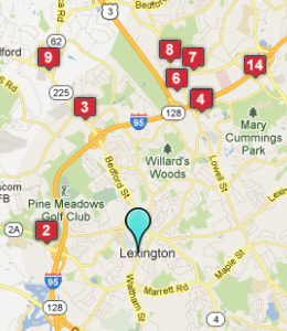 Map of Lexington, IN hotels