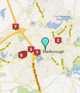 Map of Marlborough, IN hotels