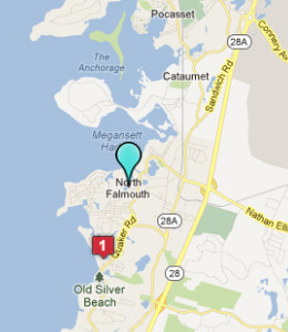 Map of North Falmouth, IN hotels
