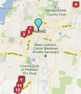 Map of Pittsfield, IN hotels