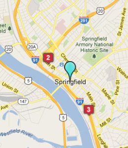 Map of Springfield, IN hotels