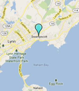 Map of Swampscott, IN hotels