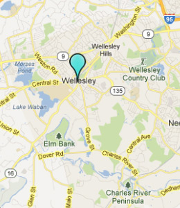 Map of Wellesley, IN hotels