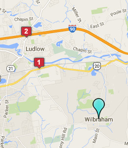 Map of Wilbraham, IN hotels