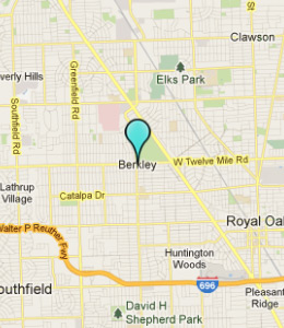 Map of Berkley, IN hotels
