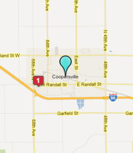 Map of Coopersville, IN hotels