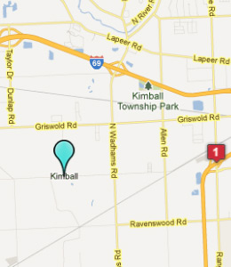 Map of Kimball Township, IN hotels