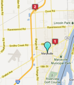 Map of Marysville, IN hotels