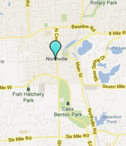 Map of Northville, IN hotels
