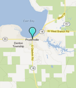 Map of Prudenville, IN hotels