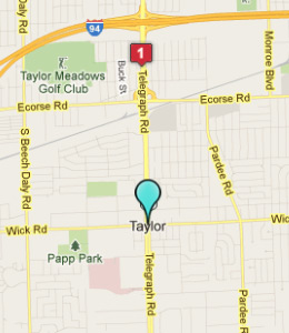 Map of Taylor, IN hotels