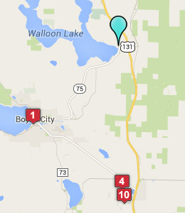 Map of Walloon Lake, IN hotels