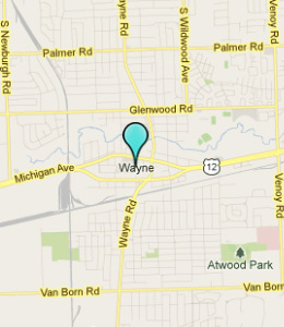 Map of Wayne, IN hotels