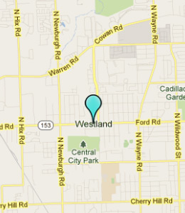Map of Westland, IN hotels