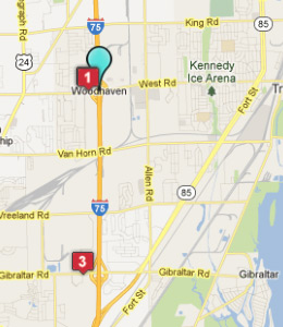 Filename Map Woodhaven Mi Hotels Jpg