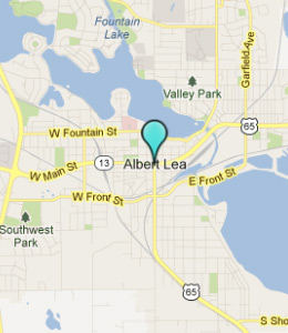 Map of Albert Lea, IN hotels