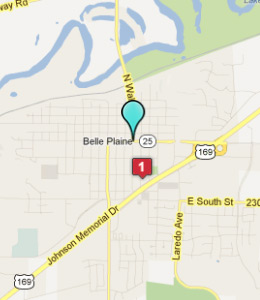 Map of Belle Plaine, IN hotels