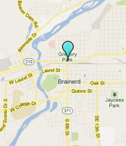 Map of Brainerd, IN hotels