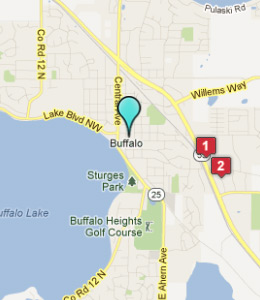 Map of Buffalo, IN hotels