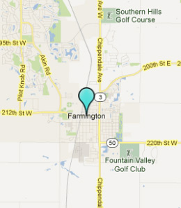 Map of Farmington, IN hotels