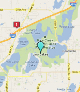 Map of Lino Lakes, IN hotels