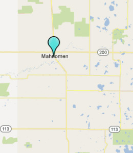 Map of Mahnomen, IN hotels