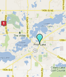 Map of Prior Lake, IN hotels