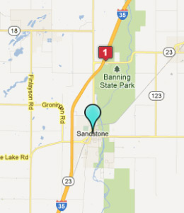 Map Looking For A Place To Stay In Sandstone Minnesota
