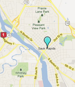 Map of Sauk Rapids, IN hotels