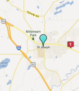 Map of St Joseph, IN hotels