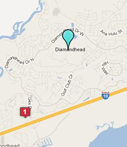 Map of Diamondhead, MS hotels