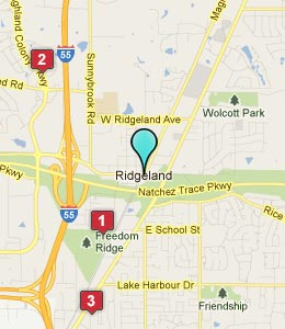 Map of Ridgeland, MS hotels